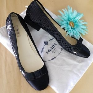 Prada sequined flats